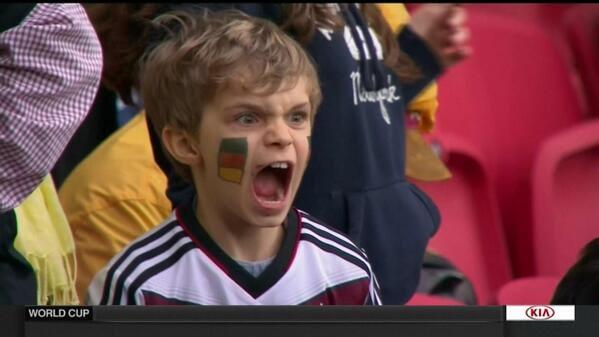 German kid in football jersey